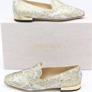 NIB Jimmy Choo Jaida Brocade Flats Loafers